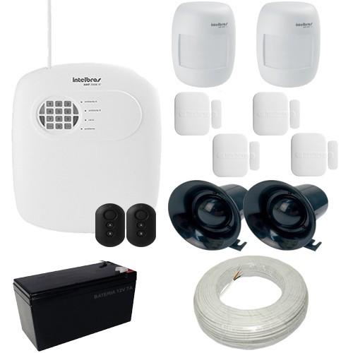 Kit Intelbras 1 Central de Alarme AMT 2008 RF com Discadora + 6 Sensores sem fio  - Tudoseg Cftv - Sistemas de Segurança Eletrônica