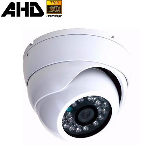 Câmera de Segurança Dome Blindada em Metal AHD 720P 1.3 Megapixel com 24 leds Infravermelho  - Tudoseg Cftv - Sistemas de Segurança Eletrônica