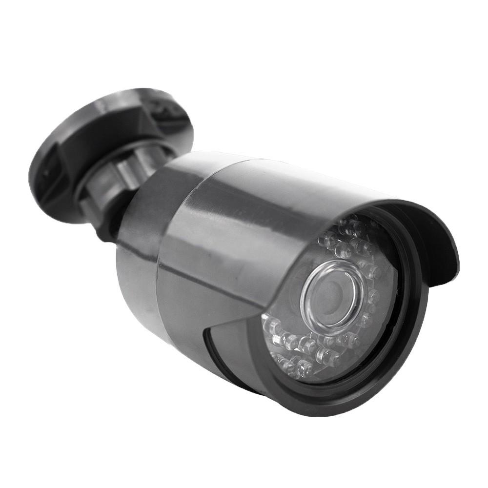 Câmera de Segurança Falsa Bivolt com Led Infravermelho - Preta  - Tudoseg Cftv - Sistemas de Segurança Eletrônica