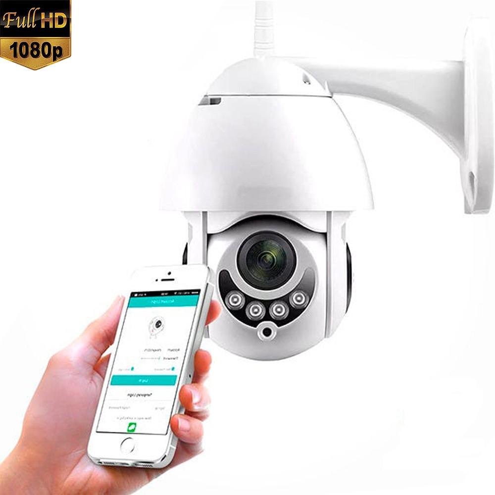 Câmera de Segurança IP PTZ Externa 8 Leds Infravermelho Full HD 1080P   - Tudoseg Cftv - Sistemas de Segurança Eletrônica