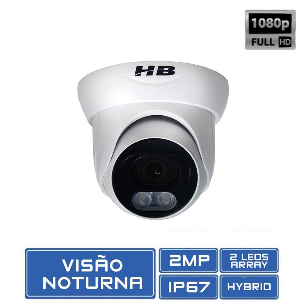 Câmera de Vigilância Dome Full HD 2.0 Megapixel 1080p Starcolor Coloria no Escuro - HB707  - Tudoseg Cftv - Sistemas de Segurança Eletrônica
