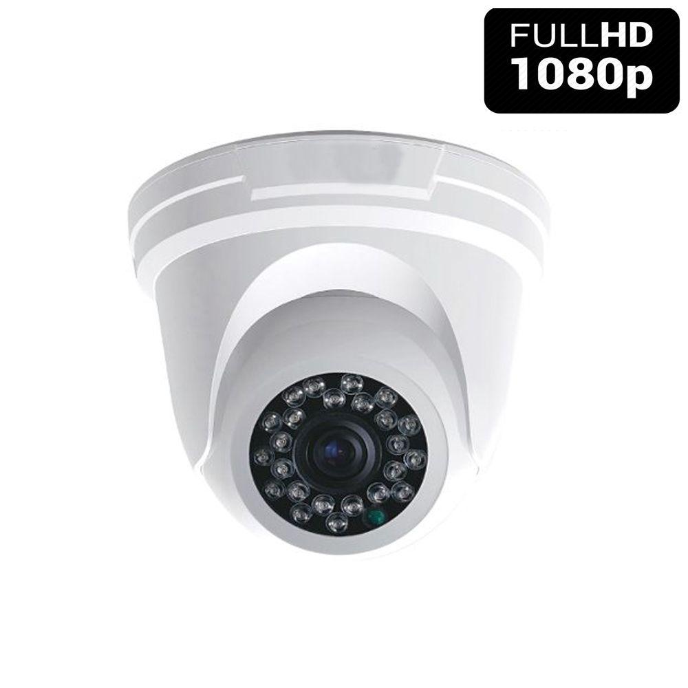 Câmera Dome 24 Leds Infravermelho 20 Metros FULL HD   - Tudoseg Cftv - Sistemas de Segurança Eletrônica