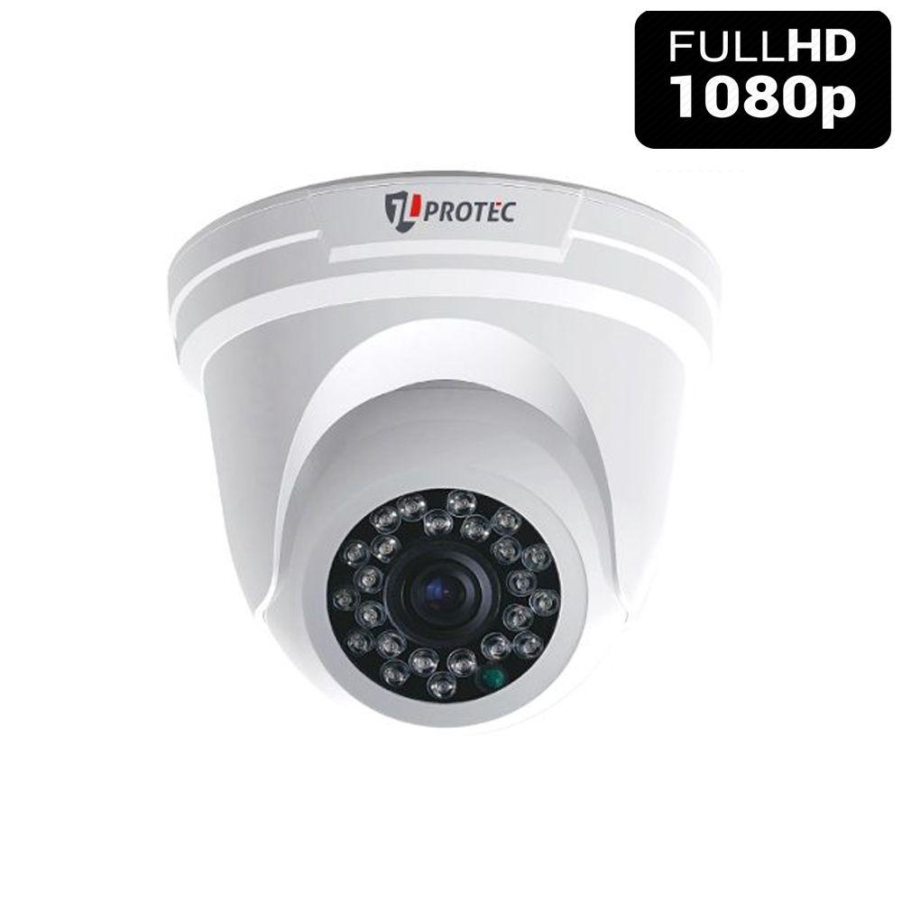Câmera Dome 24 leds infravermelho 20 metros Full HD 2.0 Megapixel 1080p - Alta Resolução de imagem  - Tudoseg Cftv - Sistemas de Segurança Eletrônica