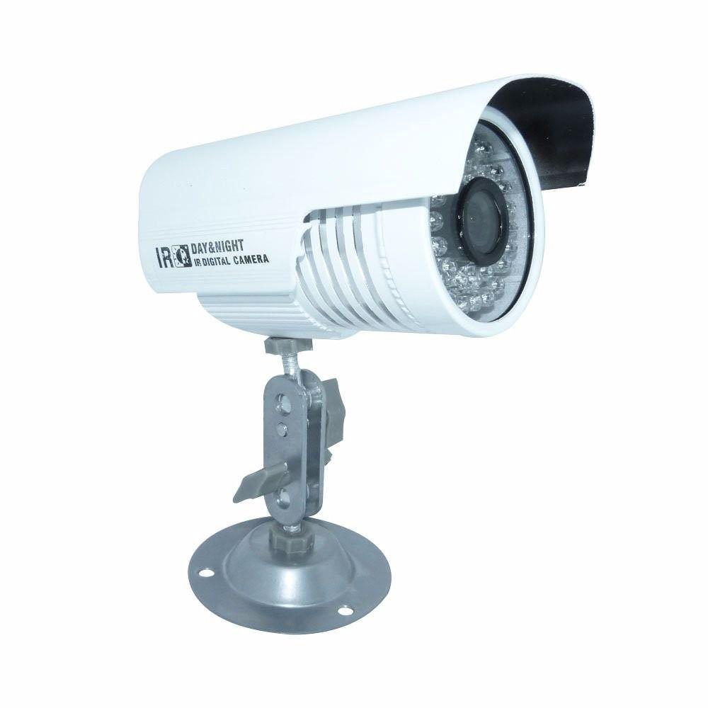 Câmera infravermelho CCD 1/4 Color 1.000 linhas 24 Leds Lente 3.6mm até 30 metros  - Tudoseg Cftv - Sistemas de Segurança Eletrônica