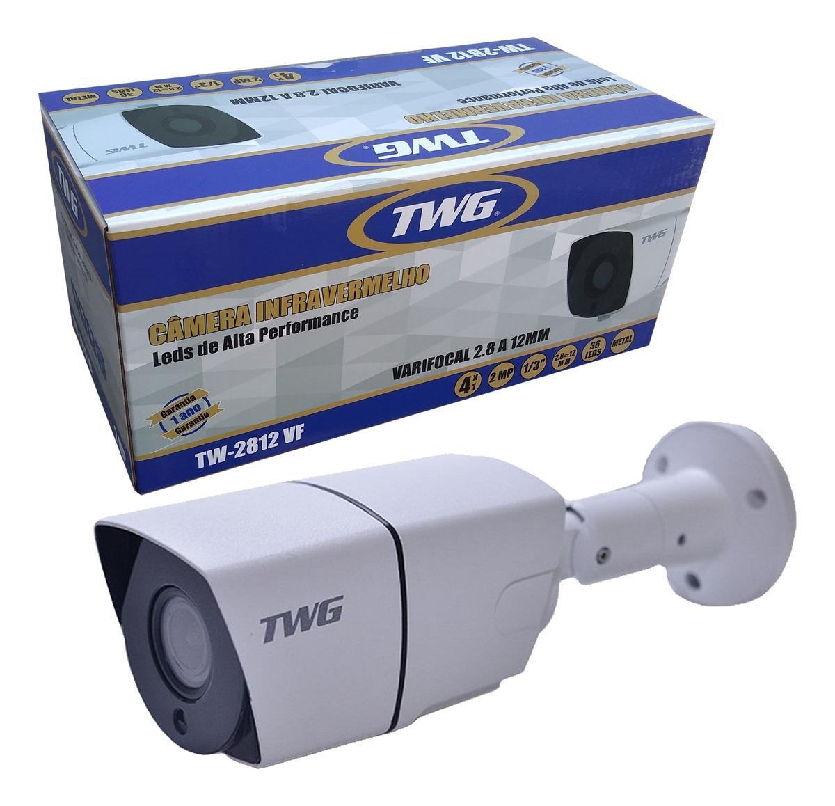 CÂMERA VARIFOCAL METAL 4X1 36 LEDS DE ALTA PERFORMANCE 2 MEGAPIXEL LENTE 2.8 A 12MM - TW-2812VF TWG.  - Tudoseg Cftv - Sistemas de Segurança Eletrônica