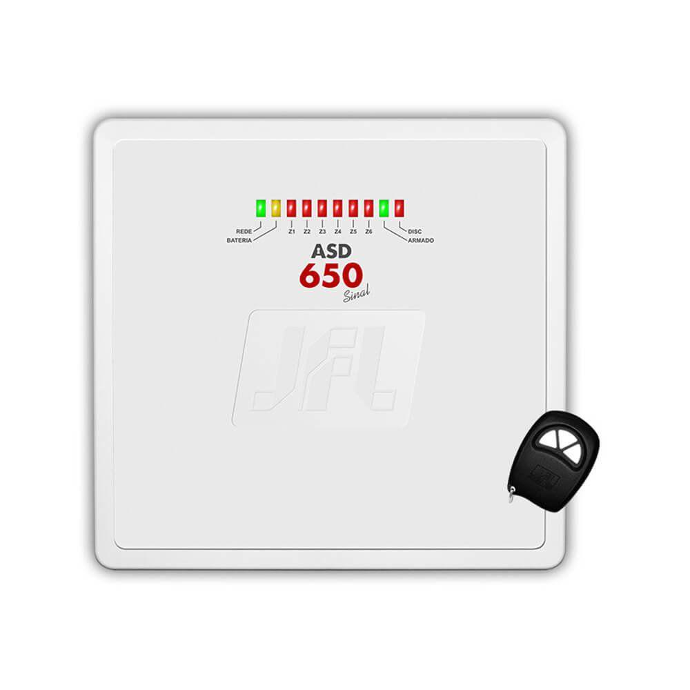 Central de Alarme Residencial / Comercial JFL ASD650 com Discadora Telefônica- 6 Setores  - Tudoseg Cftv - Sistemas de Segurança Eletrônica