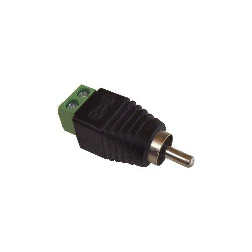 Conector plug RCA Macho em Plástico com Borne  - Tudoseg Cftv - Sistemas de Segurança Eletrônica