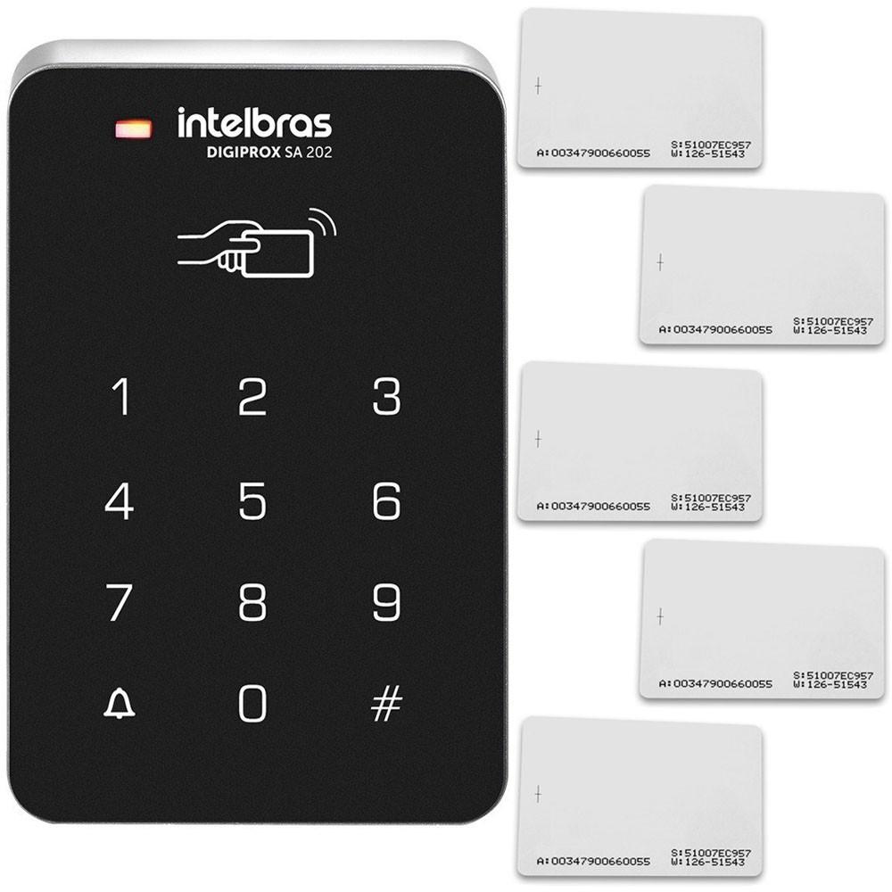 Controlador de Acesso Intelbras SA 202 Com Acesso Por Senha + 5 Cartões de Aproximação RFID Intelbras  - Tudoseg Cftv - Sistemas de Segurança Eletrônica
