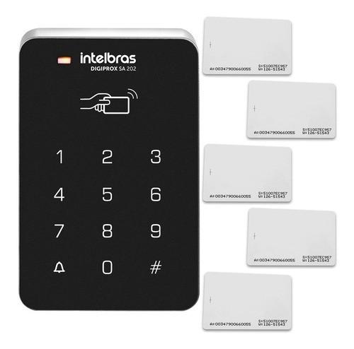 Controle De Acesso Intelbras Sa 202 + Cartões De Aproximação  - Tudoseg Cftv - Sistemas de Segurança Eletrônica