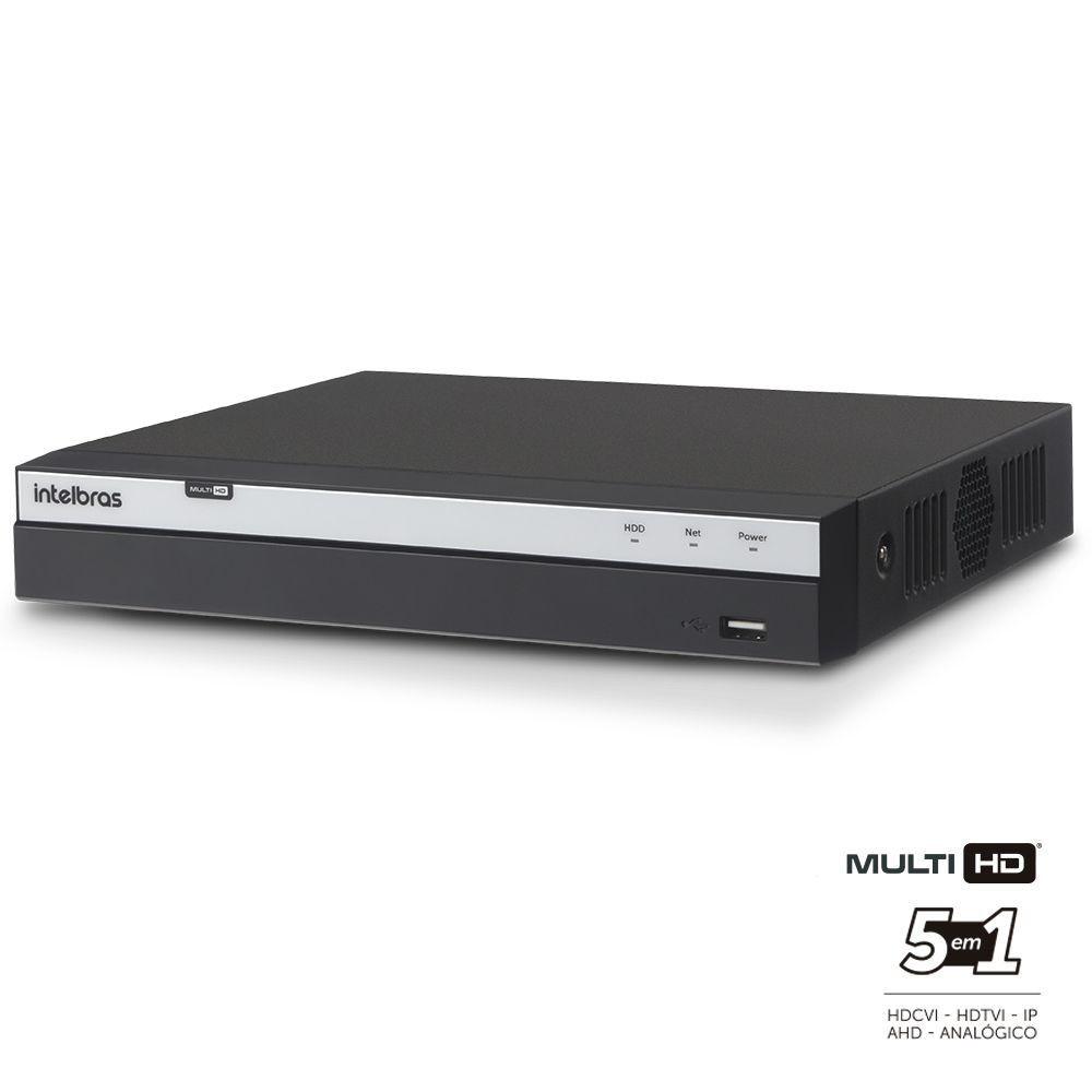 DVR Stand Alone Intelbras 8 canais Multi HD MHDX 3108 Full HD Com Acesso à Internet  - Tudoseg Cftv - Sistemas de Segurança Eletrônica