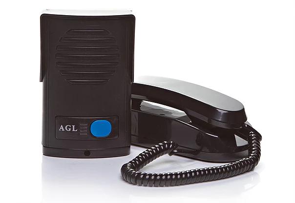 Interfone AGL Preto Com Protetor de Chuva Incorporado - Alta Resistência  - Tudoseg Cftv - Sistemas de Segurança Eletrônica