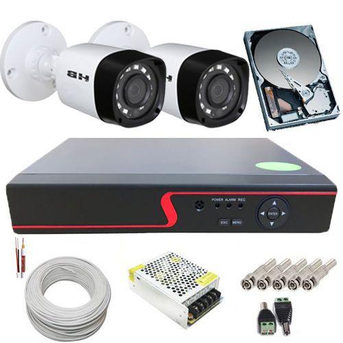 Kit 2 Câmeras de Segurança Híbridas 720p 1 Megapixel + DVR 4 Canais Com Acesso à Internet  - Tudoseg Cftv - Sistemas de Segurança Eletrônica