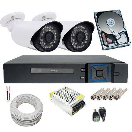 Kit 2 Câmeras Infravermelho Full HD 1080p 2.0 Megapixel DVR Multi HD 4 Canais - Acesso Remoto  - Tudoseg Cftv - Sistemas de Segurança Eletrônica