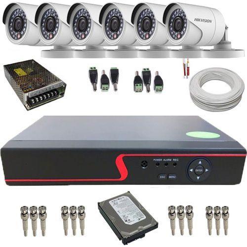 Kit 6 Câmeras de Segurança Full HD 1080p 2.0 Mp DVR 8 Canais Multi HD - Alta Definição  - Tudoseg Cftv - Sistemas de Segurança Eletrônica