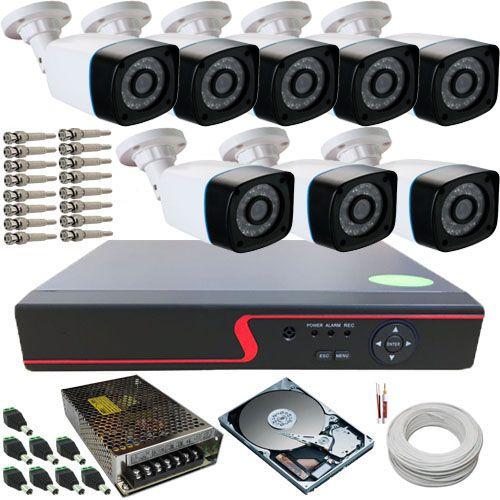 Kit 8 Câmeras de Segurança Anko Digitais 1.3 Megapixel 30 Metros DVR 8 Canais Acesso Via Celular  - Tudoseg Cftv - Sistemas de Segurança Eletrônica
