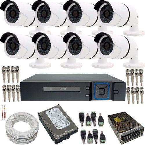 Kit 8 Câmeras de Segurança HD 1.3 Megapixel 720p Dvr Stand Alone 8 Canais - Acesso Internet  - Tudoseg Cftv - Sistemas de Segurança Eletrônica