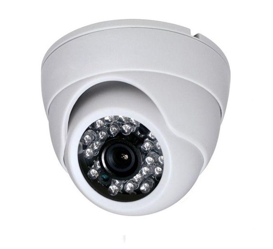 Kit Cftv 1 Câmera Dome Resolução AHD 1.0 Mp 24 Leds Infravermelho + DVR 4 Canais Multi HD  - Tudoseg Cftv - Sistemas de Segurança Eletrônica