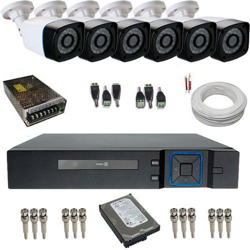 Kit Cftv 6 Câmeras De Segurança 1.3 Megapixel 720p + Dvr 8 Canais  - Tudoseg Cftv - Sistemas de Segurança Eletrônica