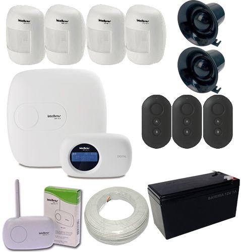 Kit de Alarme 1 Central Intelbras AMT 2018 EG Com Discadora 18 Zonas + 4 Sensores Sem Fio  - Tudoseg Cftv - Sistemas de Segurança Eletrônica