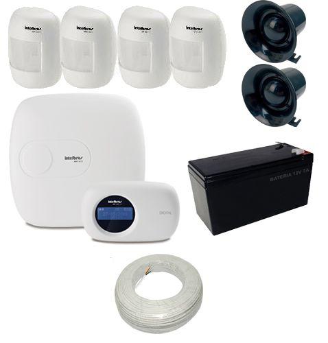 Kit de Alarme Intelbras 01 Central AMT 2018 E Ethernet 04 Sensores Infravermelho IVP 3000 CF  - Tudoseg Cftv - Sistemas de Segurança Eletrônica