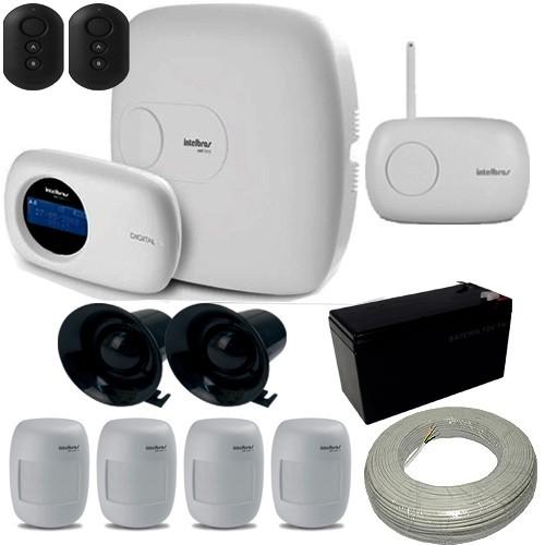 kit de Alarme Intelbras 1 Central AMT 2010 com Receptor Xar 4000 + 4 Sensores sem fio  - Tudoseg Cftv - Sistemas de Segurança Eletrônica