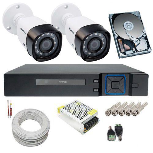 Kit de Monitoramento 2 Câmeras Intelbras 1010B 1 Megapixel 720p + DVR 4 Canais Acesso Remoto  - Tudoseg Cftv - Sistemas de Segurança Eletrônica