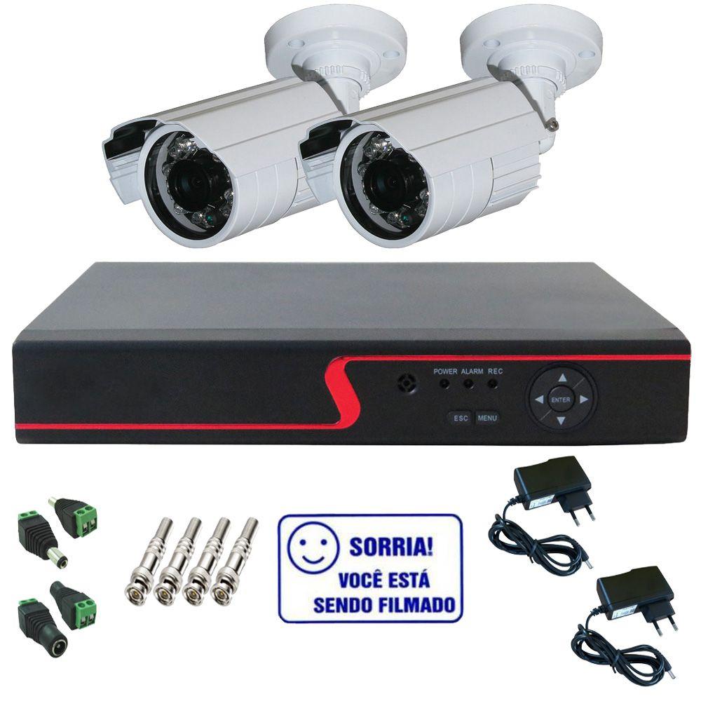 Kit Dvr Stand Alone Multi HD 4 canais + 2 Câmeras Bullet Infravermelho AHD 1.3 Mp + 2 fontes + 4 Conectores  - Tudoseg Cftv - Sistemas de Segurança Eletrônica