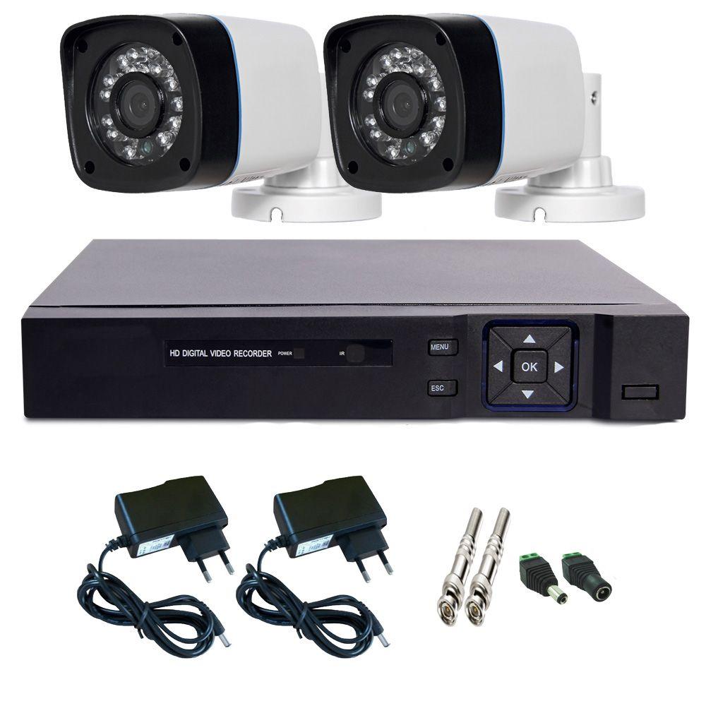 Kit Dvr Stand Alone Multi HD 4 canais + 2 Câmeras Infravermelho + 2 fontes + 4 Conectores  - Tudoseg Cftv - Sistemas de Segurança Eletrônica