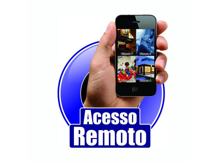 Kit Monitoramento 4 Câmeras 36 Leds Infravermelho AHD DVR 4 Canais - Acesso via Celular  - Tudoseg Cftv - Sistemas de Segurança Eletrônica