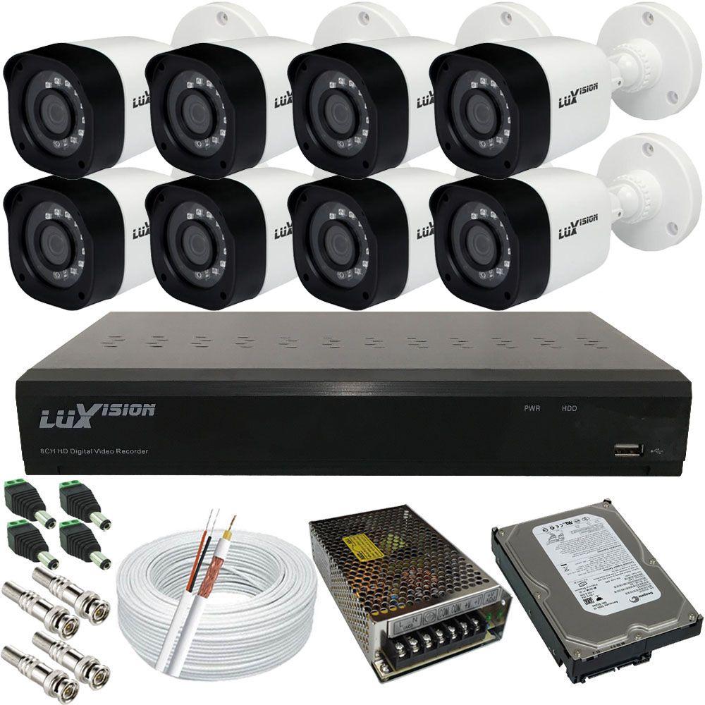 Kit 8 Câmeras de Segurança 1MP + DVR 8 Canais Acesso Remoto  - Tudoseg Cftv - Sistemas de Segurança Eletrônica