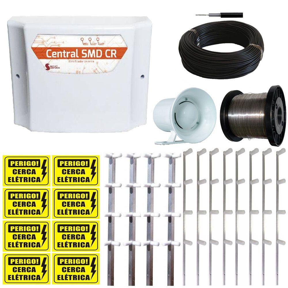 Kit Sistema de Cerca Elétrica GCP 10.000v para 60 metros  - Tudoseg Cftv - Sistemas de Segurança Eletrônica