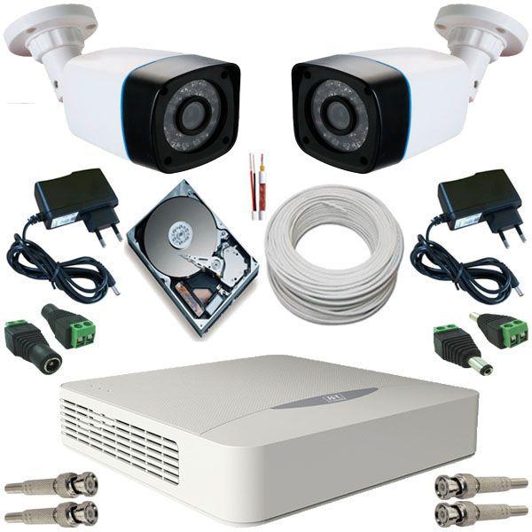 Kit vigilância 2 Câmeras Bullet 24 Leds Infravermelho AHD 1.3 Mp DVR JFL 4 Canais 5 em 1  - Tudoseg Cftv - Sistemas de Segurança Eletrônica