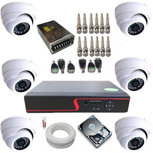 Kit Vigilância 6 Câmeras Dome de Metal Infravermelho AHD 1.3 Megapixel + Gravador DVR  - Tudoseg Cftv - Sistemas de Segurança Eletrônica