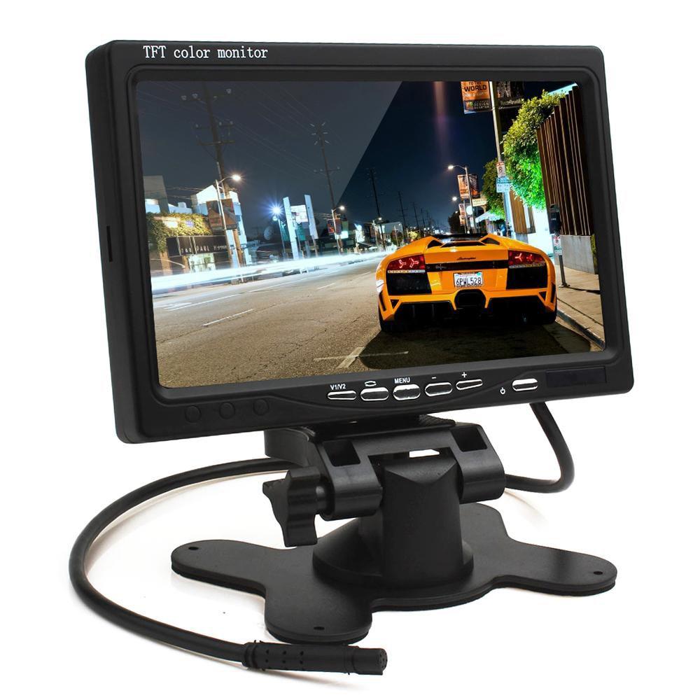 Monitor LCD Colorido 7 Polegadas Com Entrada HDMI - VGA - AV - Alta Definição  - Tudoseg Cftv - Sistemas de Segurança Eletrônica