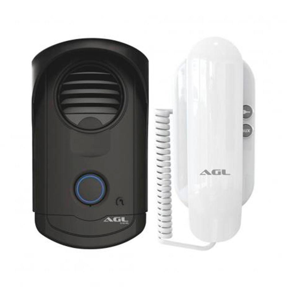 Porteiro Eletrônico AGL S100 Linha Slim - Interfone e Monofone  - Tudoseg Cftv - Sistemas de Segurança Eletrônica