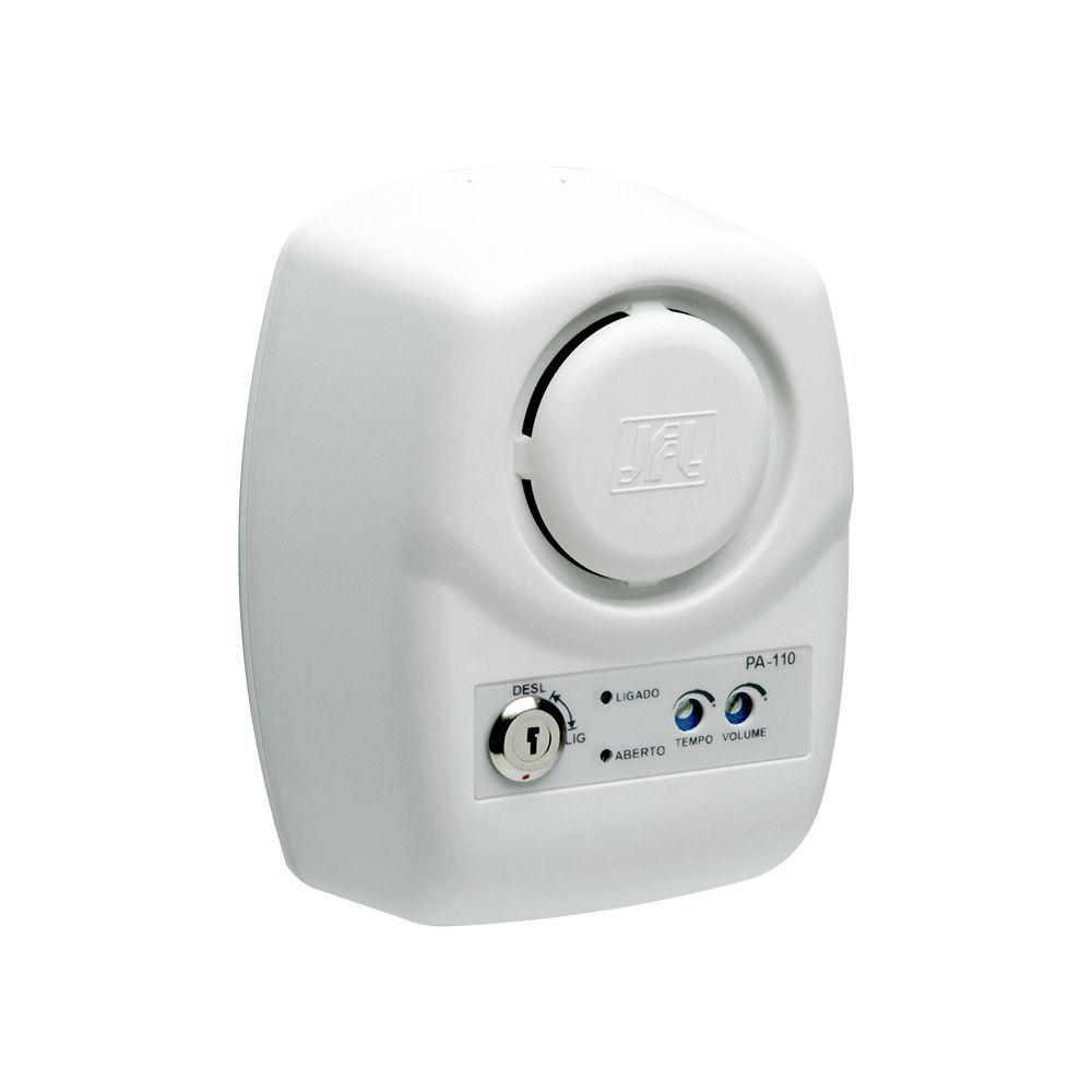 Sensor de Abertura de Porta JFL PA-110 Com Controle de Tempo de Abertura e Aviso Sonoro  - Tudoseg Cftv - Sistemas de Segurança Eletrônica
