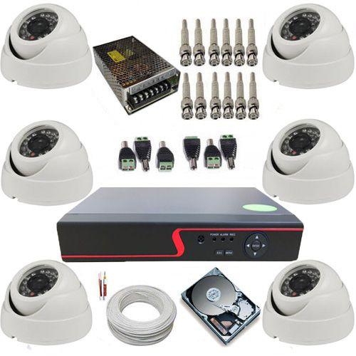 Sistema de Monitoramento 6 Câmeras Dome AHD 1.0 MP DVR Stand Alone 8 canais  - Tudoseg Cftv - Sistemas de Segurança Eletrônica