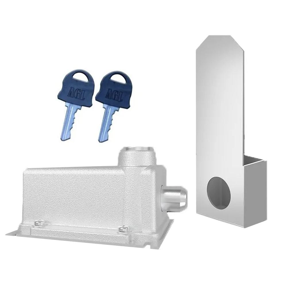 Trava Eletromagnética AGL - Para Portões de Garagem  - Tudoseg Cftv - Sistemas de Segurança Eletrônica