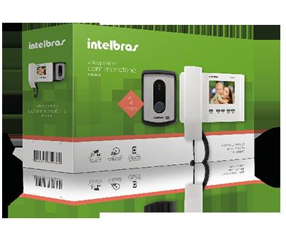 Video Porteiro Intelbras IV 4010 HS com Acesso Remoto via Celular  - Tudoseg Cftv - Sistemas de Segurança Eletrônica