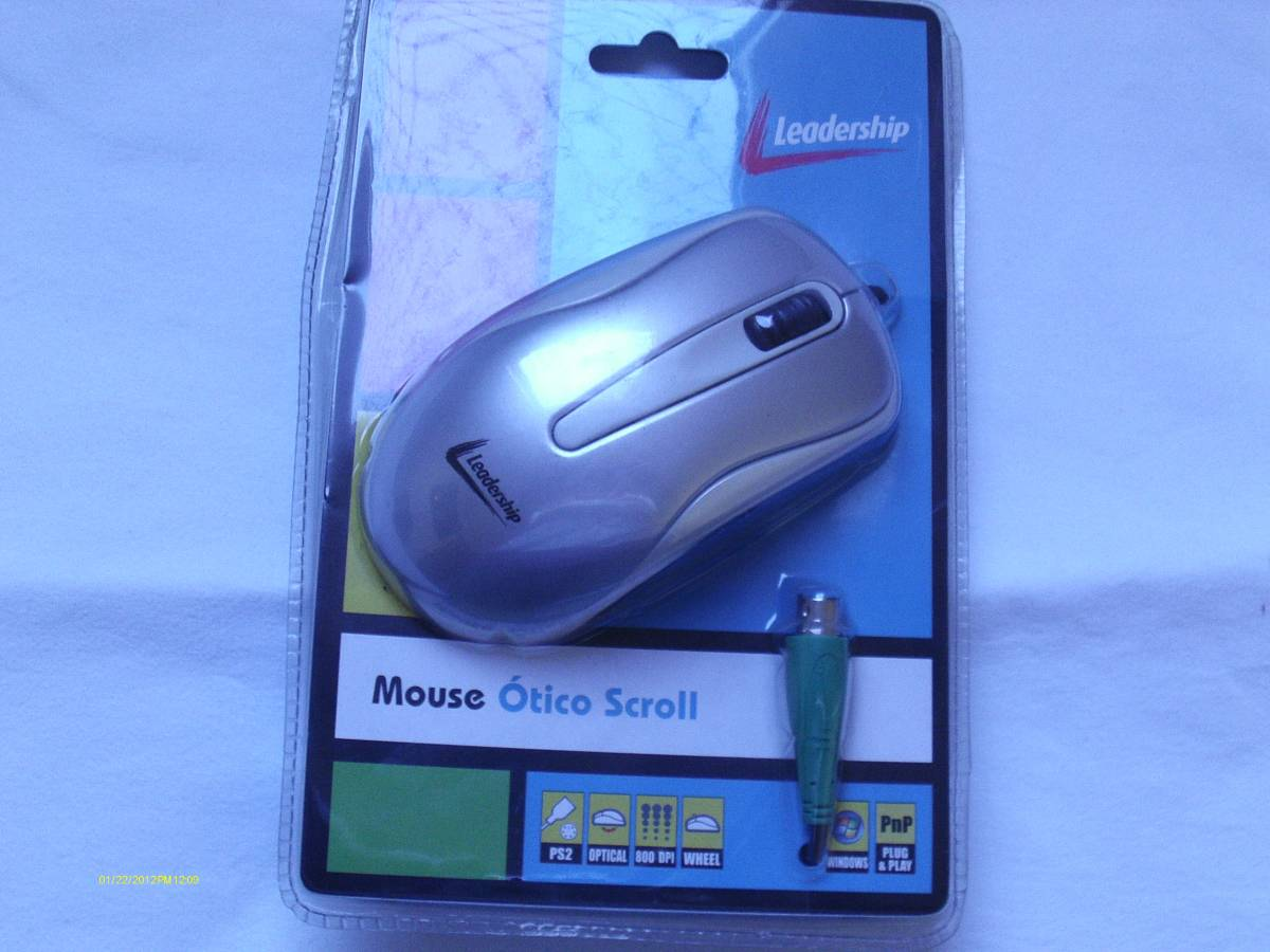 Mouse Óptico Ps2 Com Scroll - Leadership 2038