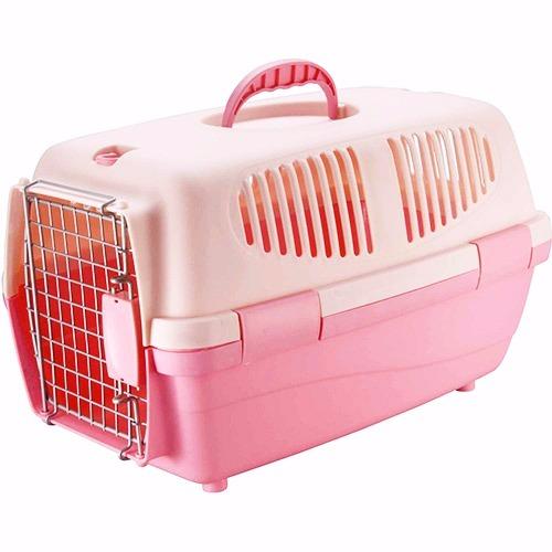 Caixa de Transporte Carry Pet Tamanho 2 Eleva Mundi - Rosa - N2