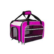 Bolsa Dog Fly para cabine do avião modelo Cia Air France - Rosa