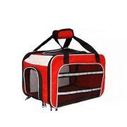 Bolsa Dog Fly para cabine do avião modelo Cia Passaredo - Vermelho