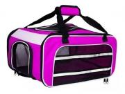 Bolsa Dog Fly para cabine do avião modelo Cia TAP Portugal - Rosa