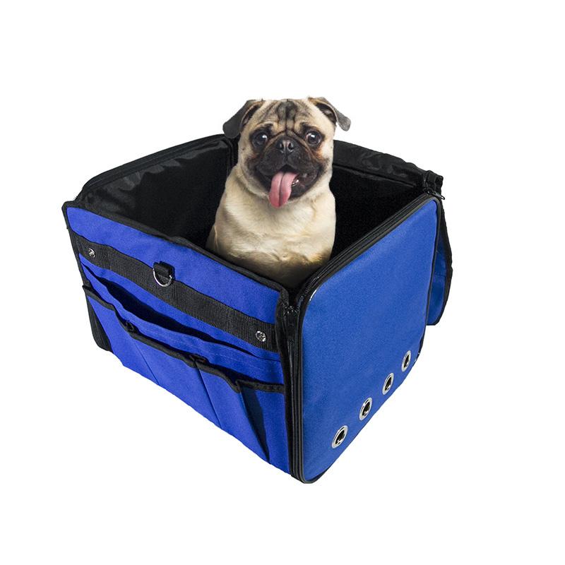 Cadeirinha de Cachorro para o Carro Vira Bolsa Bag Pet Eleva Mundi - Azul
