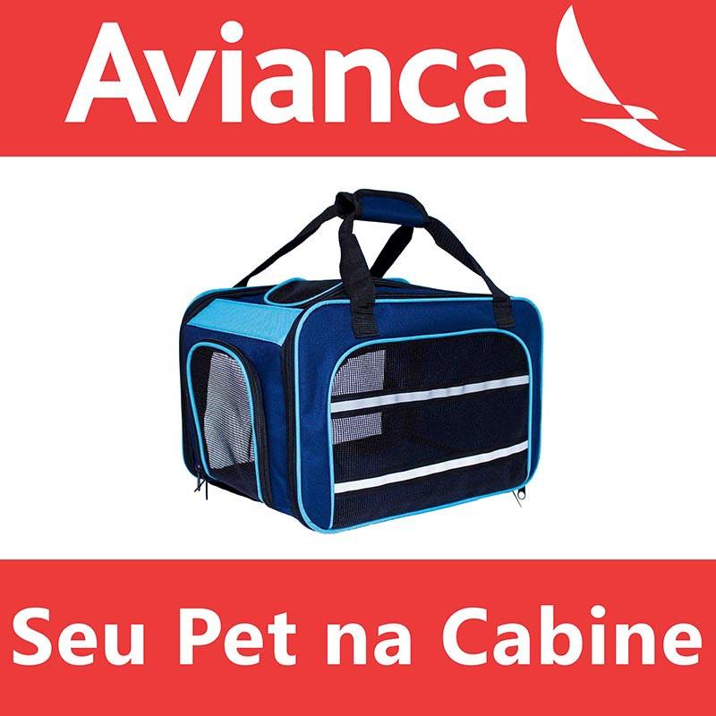 Bolsa para Transportar seu Pet na Cabine do Avião - Cia AVIANCA