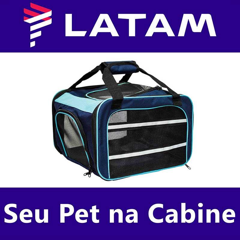 Bolsa para Transportar seu Pet na Cabine do Avião - Cia LATAM - Eleva Mundi
