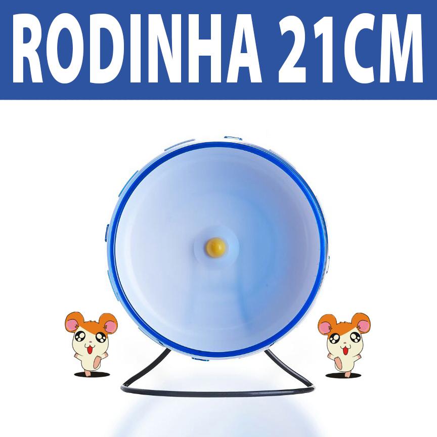 Rodinha de Grade Spin 21cm para Hamster Eleva Mundi - Azul