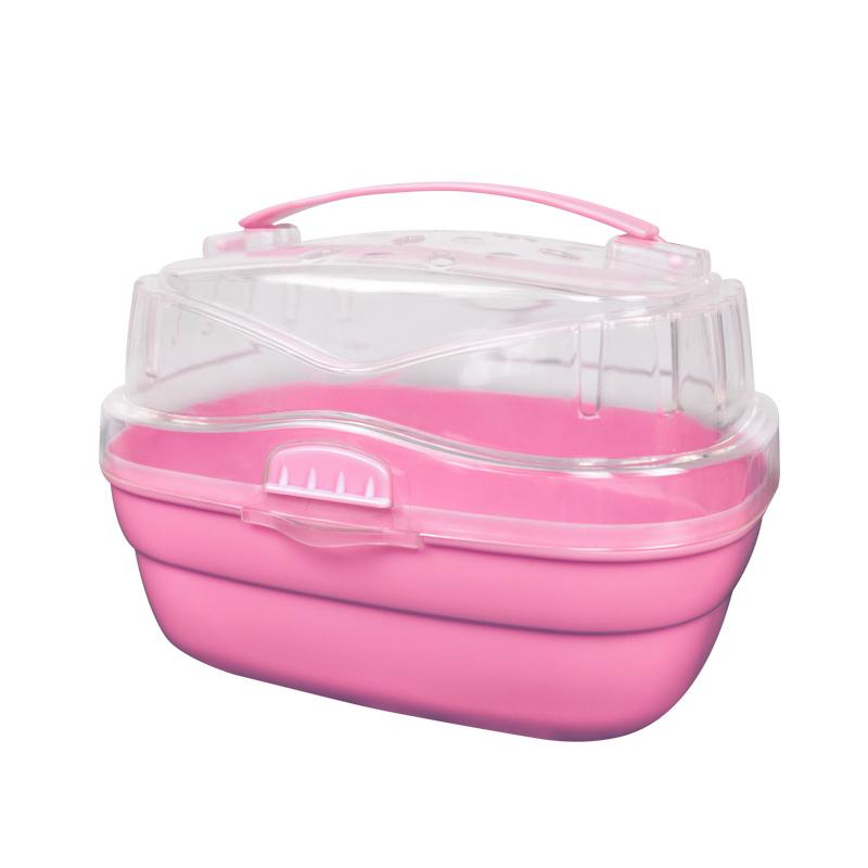 Caixa de Transporte Portátil para Hamster Eleva Mundi - Rosa