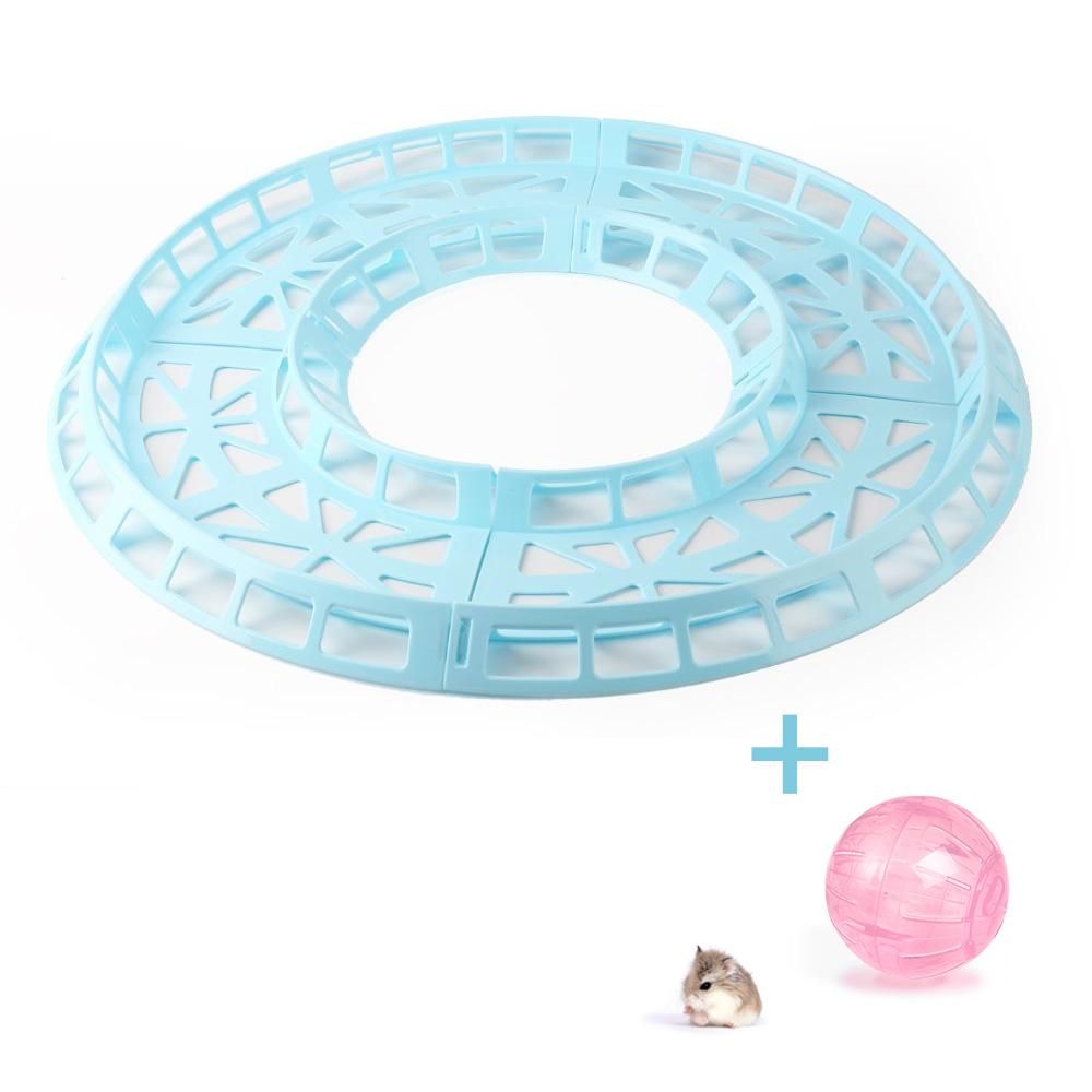Pista de Corrida Azul para Hamster + Globo Rosa 12cm Eleva Mundi